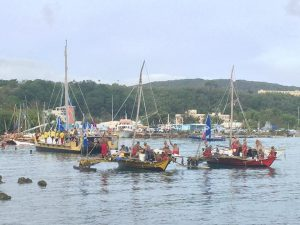 Traditional Micronesian Canoes at Guam festival